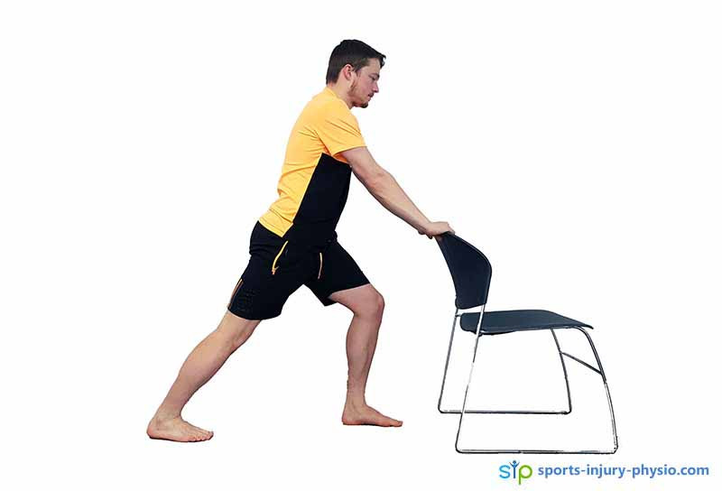 The calf stretch is a useful exercise for several injuries including plantar fasciitis.