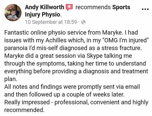 Online Physio Review: Andy