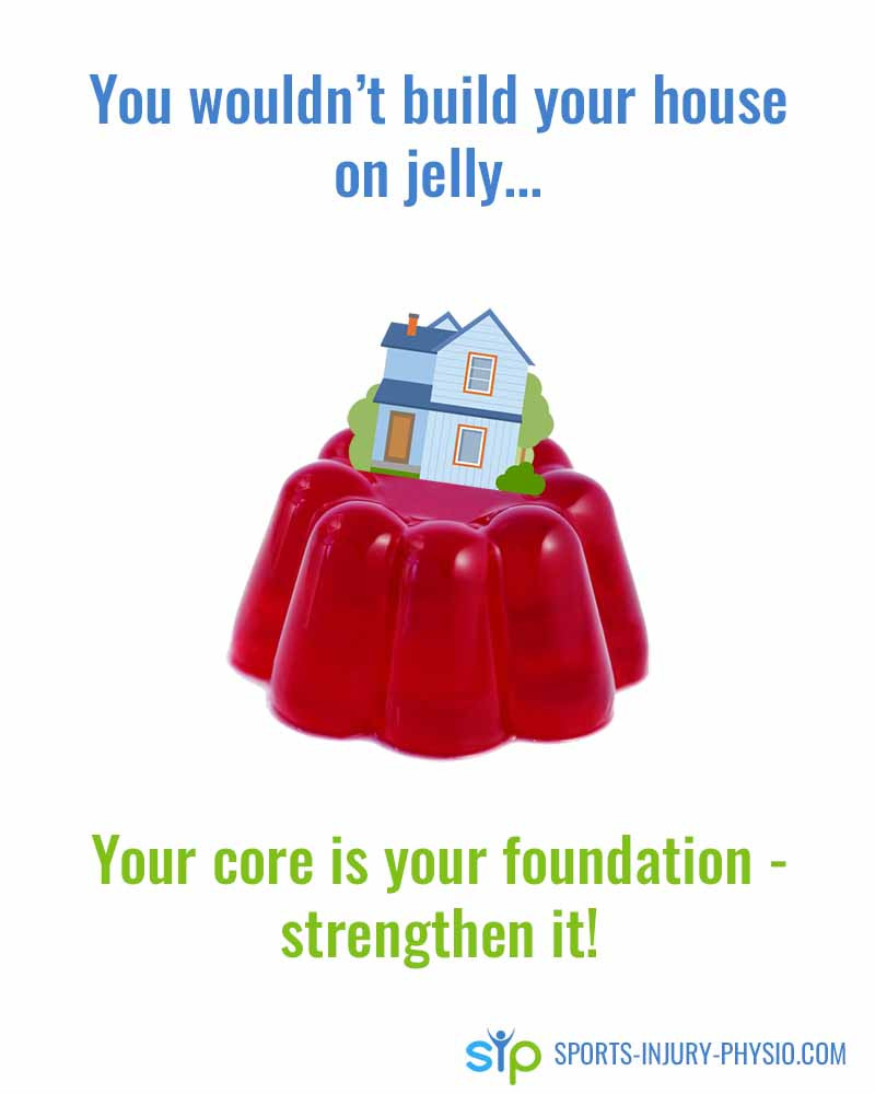 You wouldn't build your house on jelly...your core is your foundation - strengthen it!