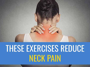 These exercises help neck pain