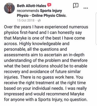 在线理疗评论:Beth
