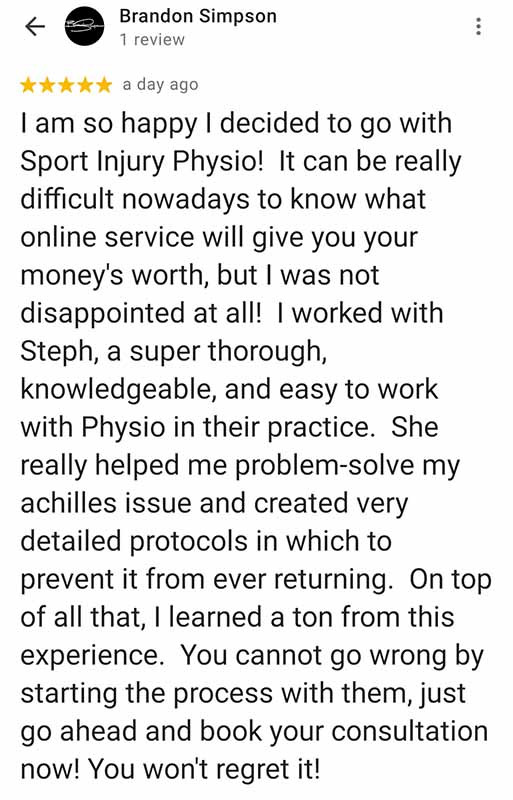 Online Physio Review: Brandon Simpson