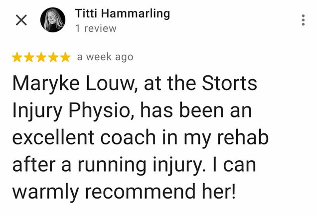 Online Physio Review: Titti Hammarling