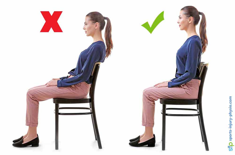Slouching in a chair can hurt your back.