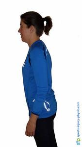 Good neck posture in running.