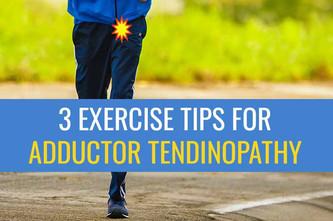 患有内收肌腱病的跑步者的3个锻炼建议