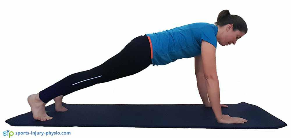 Full push-up start position.