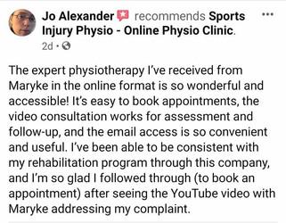 在线理疗评论:Jo Alexander