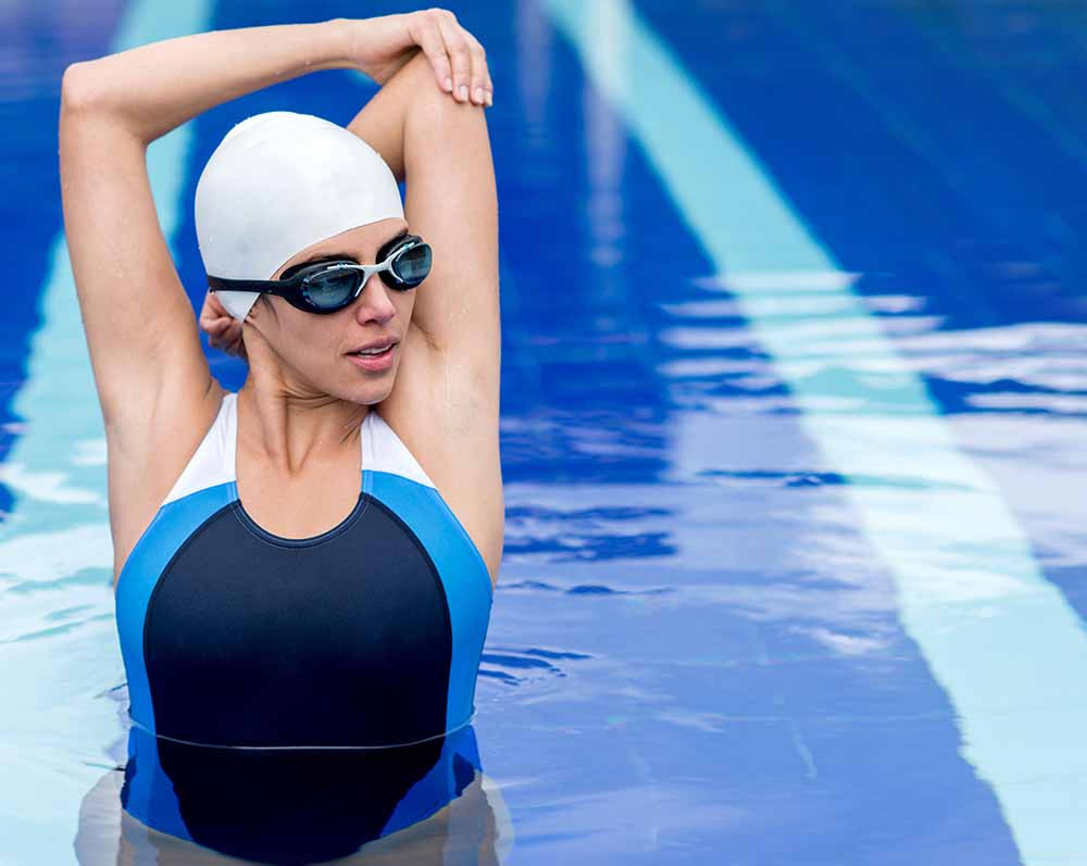 Swimming is good for meniscus injuries but steer clear of breast stroke.
