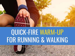 Quick-fire warm-up routine for runners and walkers!