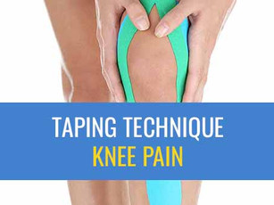Kinesiology Taping Technique For Anterior Knee Pain