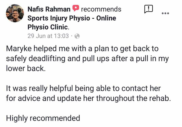 Online Physio Review: Nafis Rahman