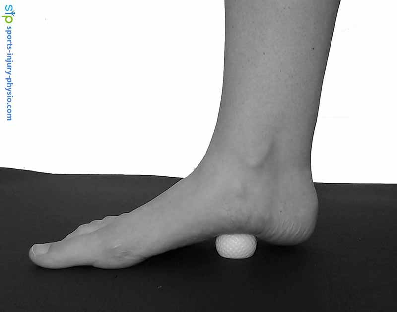You can use a golf ball or foot massager to massage the plantar fascia if you suffer from plantar fasciitis.