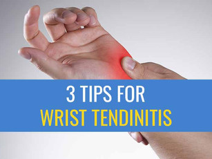 3 Tips for treating Wrist Tendinitis caused by computer work