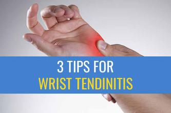 治疗由电脑工作引起的手腕肌腱炎的3个小贴士