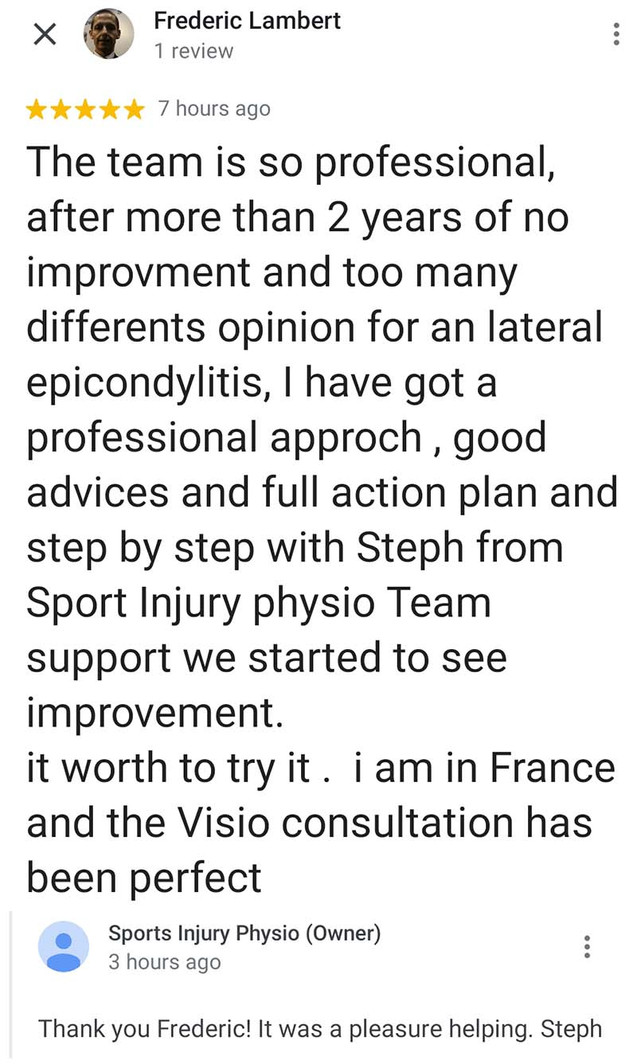 Online Physio Review: Frederic Lambert