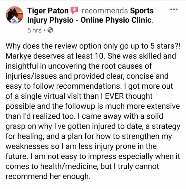 Online Physio Review: Tiger Paton