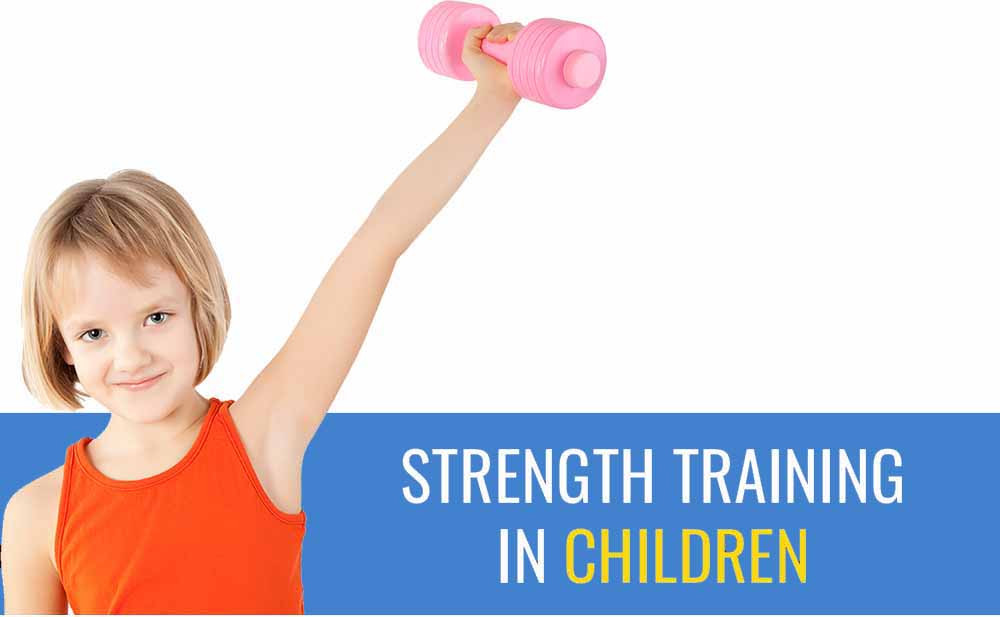 Learn how to safely help children to do weight and strength training.