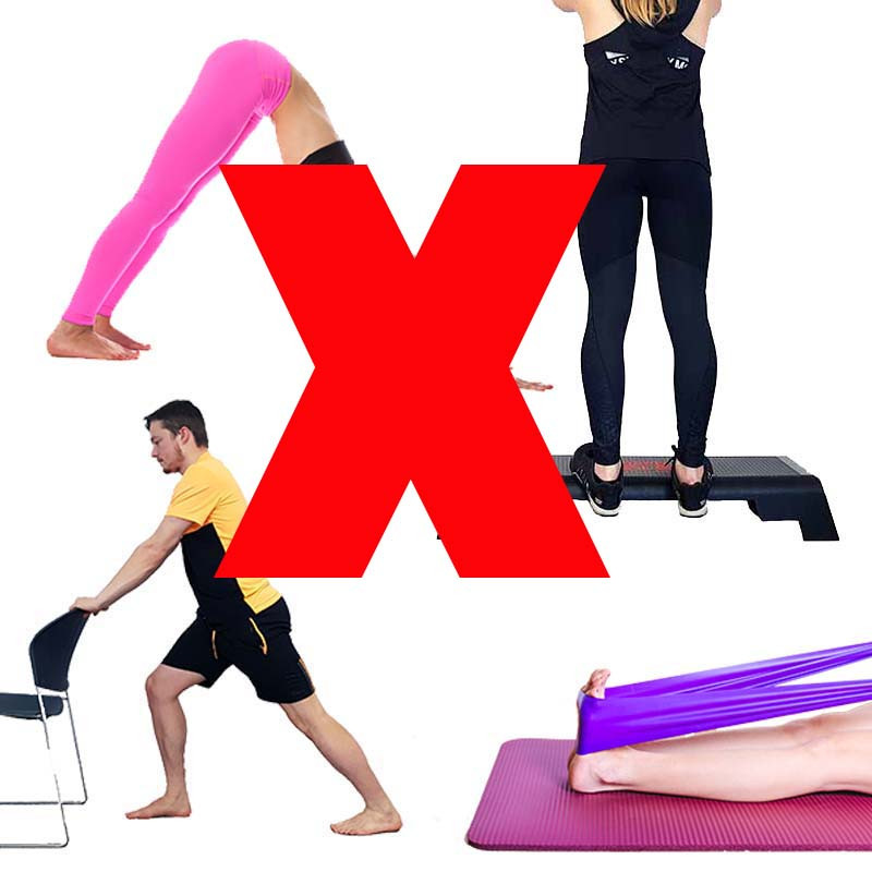 You should avoid any exercises that load the ankle in dorsiflexion when you have plantaris tendonitis.