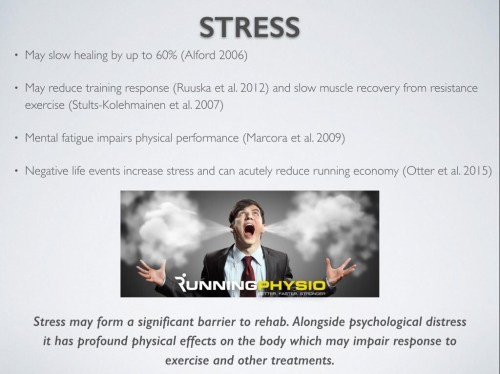 Mental stress can affect your training and recovery.