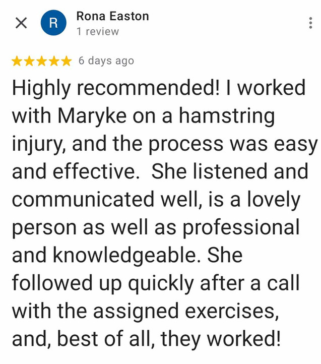 Online Physio Review: Rona Easton