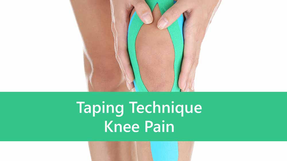 Kinesio taping technique for knee pain.