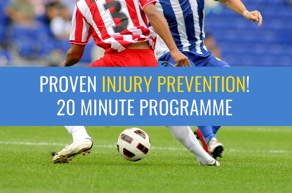 A good warm-up programme can prevent injuries in football.