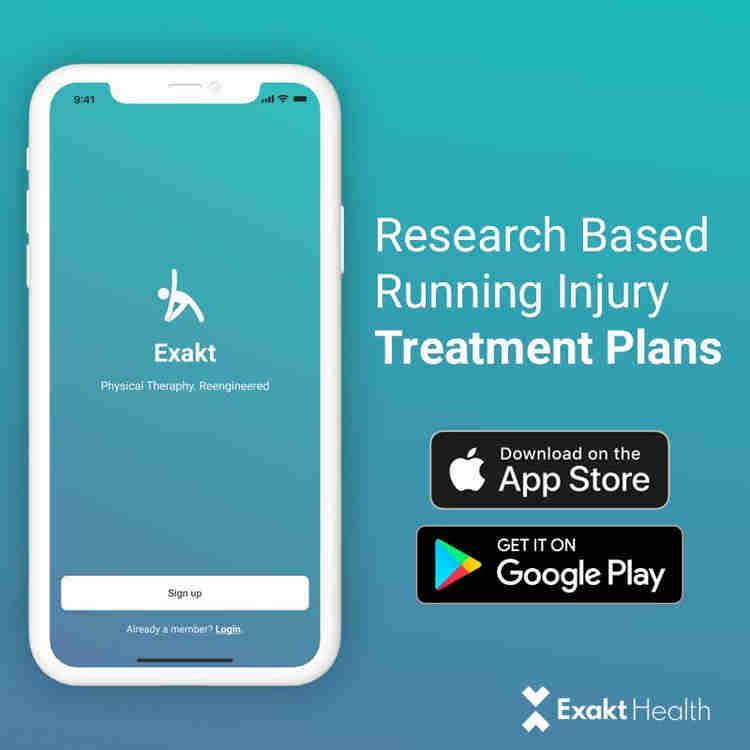 从Exakt健康应用程序中使用定制的治疗计划开始您的康复。单击链接下载应用程序。