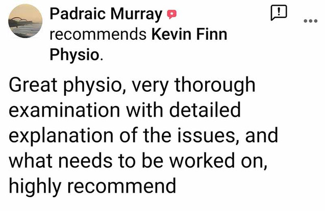 Physio Review: Padraic Murray