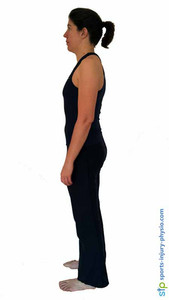 Posture without high heels - your lower back has less of a curve.