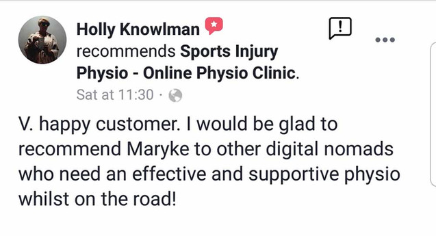 Online Physio Review: Holly
