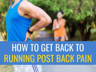 4 Steps to safely get back to running after having back pain