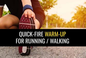 跑步者和步行者的快速热预热常规!