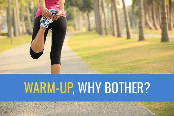 Why should you warm-up before running or doing sport?