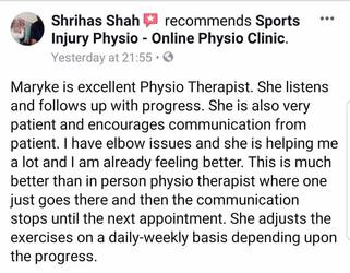 在线理疗评论:Shrihas Shah