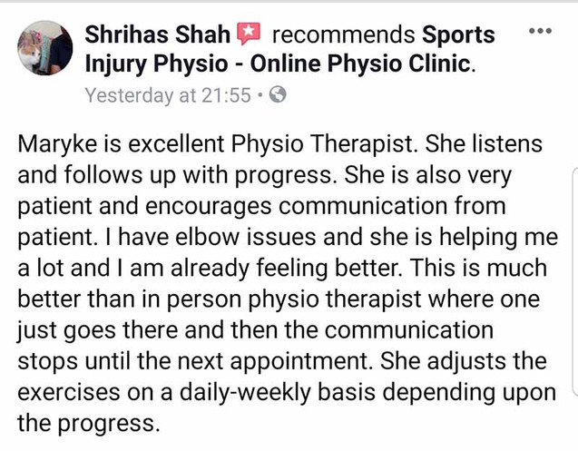 Online Physio Review: Shrihas Shah