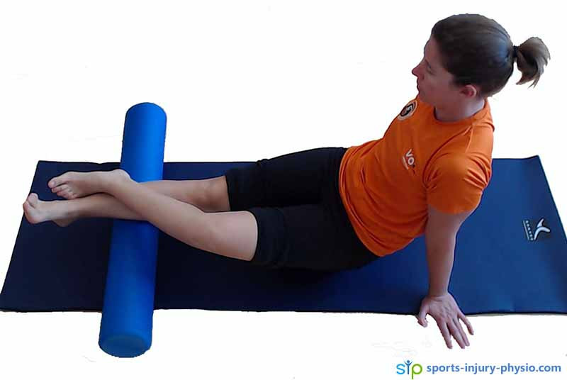 Learn how to use a foam roller to massage your calves