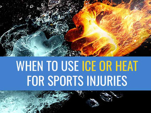 When to use Ice or Heat for a sports injury