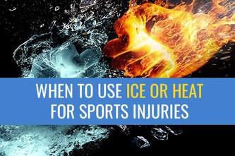 何时使用冰或热治疗运动损伤