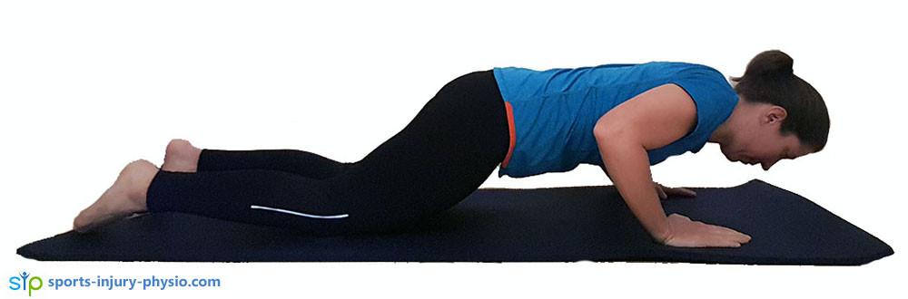 Knee push-up finish position.