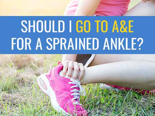 Should I go to A&E with a sprained ankle?