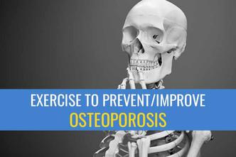 运动可以预防和/或改善骨质疏松症