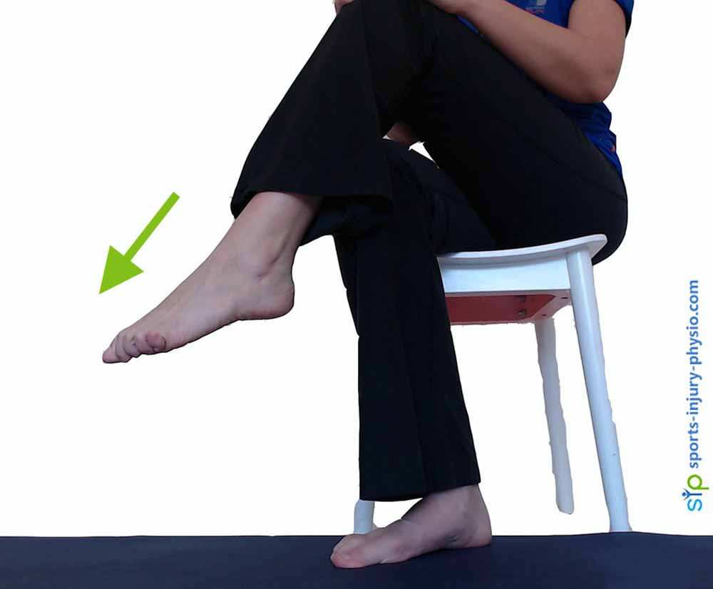 Ankle plantar flexion is when you point your foot and toes down.