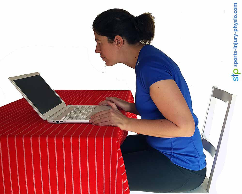 It is so easy to sit with poor posture when working on a laptop or computer.