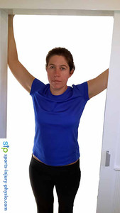 Hold the pec major stretch for 30 to 30 seconds.