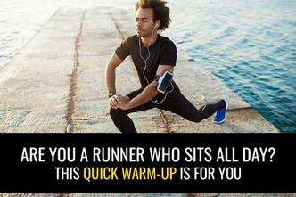 你是整天坐着的跑步者吗?在跑步之前做这个快速预热。