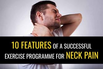 10个颈部疼痛的锻炼计划的10个功能