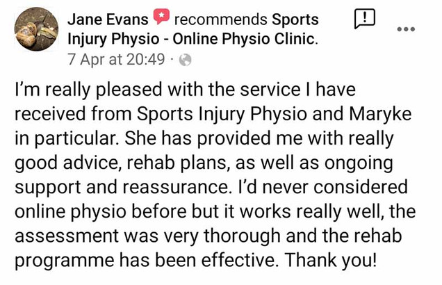Online Physio Review: Jane Evans