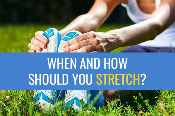 Woman asking when and how to stretch.