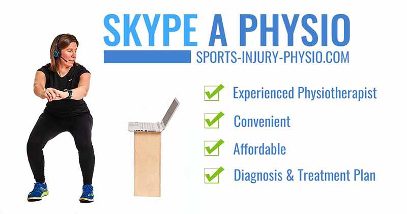 You can consult an experienced sports physio online via video call for an assessment of your injury and a tailored treatment plan. Follow the link to learn more.